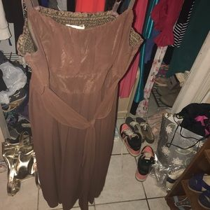 a brown dress only worn once